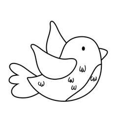 Cute and little bird flying vector