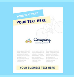cycle title page design for company profile vector image