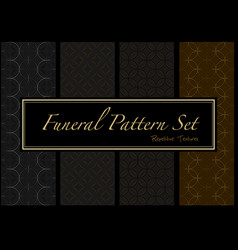dark patterns in gold and black colors vector image