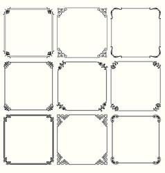 decorative frames set 60 vector image