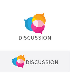 discussion logo vector image