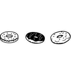 Donut icon isolated on white background vector