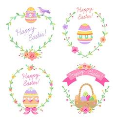 Easter frames cute vector image