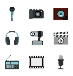 Electronic devices icons set flat style vector image