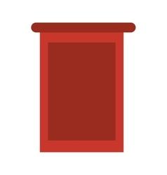Empty stand icon vector