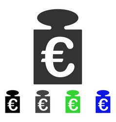 Euro weight flat icon vector
