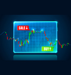 Finance trader graph information buy and sale vector