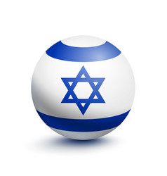 flag of israel in the form of a ball vector image