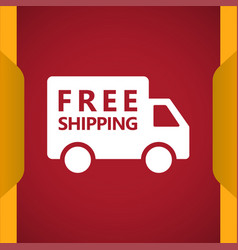 Free shipping truck icon vector