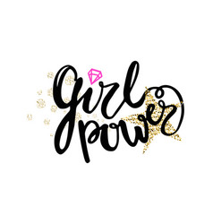 Girl power colorful graffiti vector