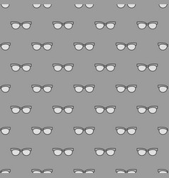 Gray seamless pattern made with glasses vector