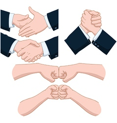 Hand Shakes Pack vector image