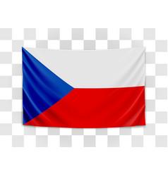 hanging flag czech czech republic national vector image