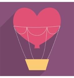 Heart and hot air balloon design vector image