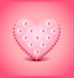 Heart-shaped cracker background vector image