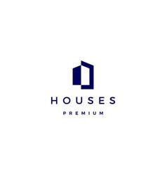 House home architect mortgage facade logo icon vector