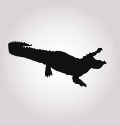 Image a crocodile silhouette vector