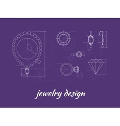 Jewelry Design Banner vector