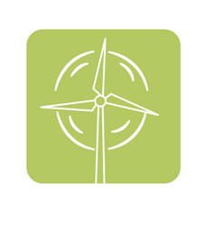Label nature and organic windpower ecology care vector