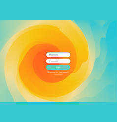 login user interface modern screen design mobile vector image
