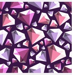 low poly gem diamond seamless pattern vector image
