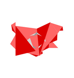 low poly style map of turkey vector image