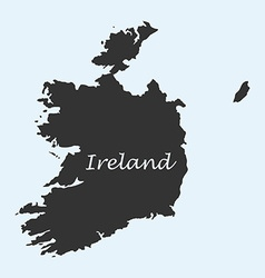 Map of Ireland vector