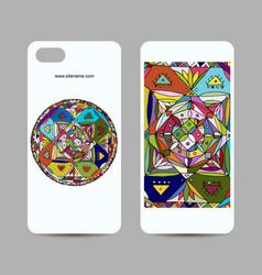 mobile phone cover design ethnic mandala vector image