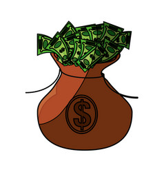 money bag symbol vector image