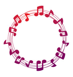 Musical notes background circular musical sheet vector