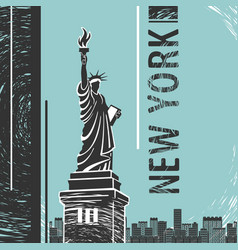 new york statue liberty poster vector image