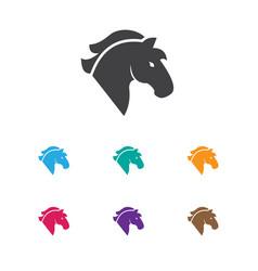 of casino symbol on horse icon vector image