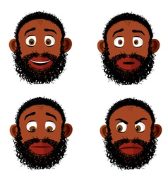 Old black bearded man vector