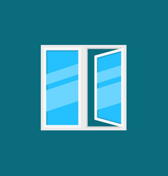Open plastic window icon in flat style vector