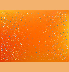 Orange red color background stars confetti vector