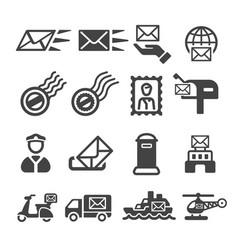 postal icon vector image