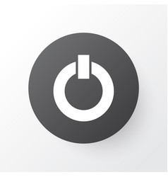 Power on icon symbol premium quality isolated vector