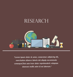 research concept with text icon vector image