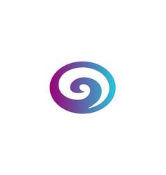 round swirl abstract logo vector image