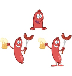 Sausage with Bear Collection vector image