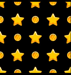 seamless pattern with stars and coins vector image