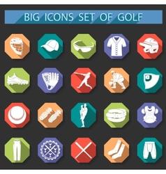 set icons baseball vector image