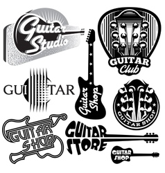 set of monochrome templates for logo vector image