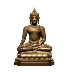 Statue of Buddha Subdoing Mara vector
