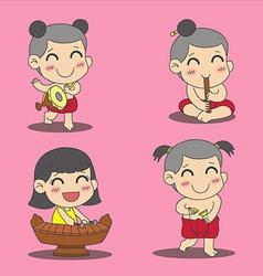 Thai Children 3 vector