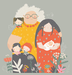 three generations women different ages from vector image