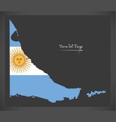 tierra del fuego map of argentina with vector image