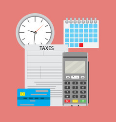 Time pay tax vector
