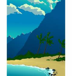 tropical mountains vector image