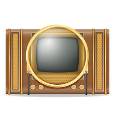 Tv old retro vintage icon stock vector
